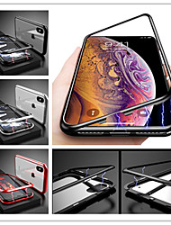 cheap -Case For Apple iPhone X / iPhone 8 Plus / iPhone 8 Shockproof / Magnetic Back Cover Solid Colored Hard Tempered Glass