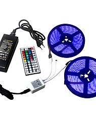 cheap -ZIQIAO 2*5M/Row 60leds/m Led Strip DC12V SMD 5050 Waterproof Flexible LED Strip Light RGB44 Key Remote Control