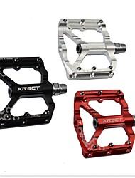 cheap -KRSEC Mountain Bike Pedals Flat & Platform Pedals Sealed Bearing Lightweight Anti-Slip 7075 Aluminium Alloy for Cycling Bicycle Road Bike Mountain Bike MTB BMX Black