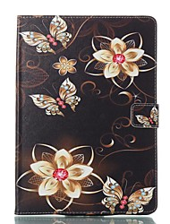 cheap -Case For Apple iPad Air / iPad 4/3/2 / iPad Mini 3/2/1 Card Holder / with Stand / Flip Full Body Cases Butterfly / Flower Hard PU Leather / iPad Pro 10.5 / iPad (2017)