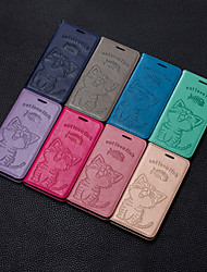cheap -Case For Huawei Huawei P20 / Huawei P20 Pro / Huawei P20 lite Wallet / Card Holder / with Stand Back Cover Cat / Solid Colored Hard PU Leather