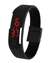 cheap -Men's Digital Watch Digital Silicone Black / White / Blue 30 m Water Resistant / Waterproof LCD Digital Casual Fashion - Brown Red Green
