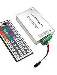cheap -DC12V-24V 12A 144W 44Key IR Remote Controller Aluminum shell for RGB LED Strip 5050 3528 SMD with 4PIN RGB Connecting line