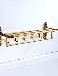 cheap -Bathroom Shelf Foldable / Multilayer / Multifunction Antique Aluminum 1pc - Bathroom / Hotel bath Wall Mounted