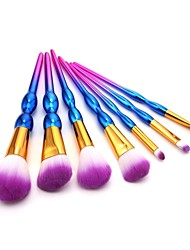 cheap -7 pcs Makeup Brushes Professional Blush Brush / Eyeshadow Brush / Lip Brush Nylon fiber Full Coverage