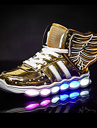 cheap -Boys USB Charging  LED / LED Shoes PU Sneakers Big Kids(7years +) Sequin / LED Black / Gold / Red Fall / Winter / Rubber