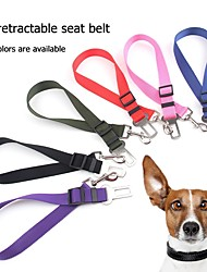cheap -Dogs Cats Leash Portable Adjustable / Retractable Hands free Solid Colored Metalic Nylon Metal Green Pink Black