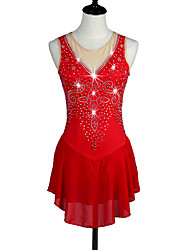 cheap -Ice Skating Dress Red High Elasticity Competition Skating Wear Snowsports Downhill / Anatomic Design