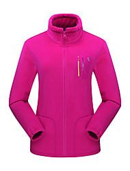 cheap -Women's Hiking Fleece Jacket Winter Outdoor Thermal / Warm Windproof Breathable Anatomic Design Winter Fleece Jacket Fleece Single Slider Camping / Hiking Ski / Snowboard Walking Purple / Fuchsia