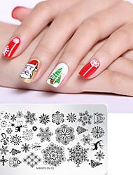 cheap -1 pcs Nail DIY Tools Template Cartoon Series Recyclable nail art Manicure Pedicure Stylish Christmas