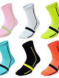 cheap -Jersey Compression Socks Athletic Sports Socks Cycling Socks Men's Women's Cycling / Bike Bike / Cycling Breathable Cycling Quick Dry 6 Pairs 6pcs Fashion Nylon One-Size / Stretchy