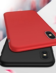 cheap -Case For Apple iPhone X / iPhone 8 Plus / iPhone 8 Ultra-thin / Frosted Back Cover Solid Colored Soft TPU