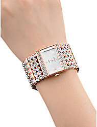 cheap -Women's Wrist Watch Square Watch Quartz Stainless Steel Silver / Gold / Rose Gold 30 m Water Resistant / Waterproof Creative Analog Ladies Casual Fashion - Gold Silver Rose Gold