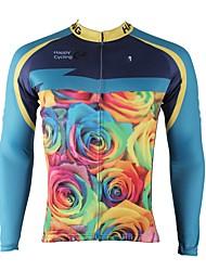 cheap -ILPALADINO Men's Long Sleeve Cycling Jersey Winter Fleece Elastane Sky Blue Bike Jersey Top Mountain Bike MTB Road Bike Cycling Thermal / Warm Fleece Lining Ultraviolet Resistant Sports Clothing