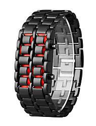 Недорогие -Муж. электронные часы Кварцевый Черный 30 m ЖК экран Цифровой На каждый день Мода - Оранжевый / черный Серебристый / Синий Серебристый / Красный