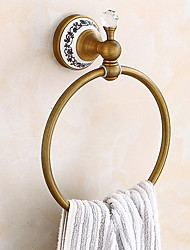 cheap -Towel Bar New Design / Elegant Cool Antique Brass 2pc towel ring Wall Mounted