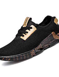 cheap -Men's Comfort Shoes Mesh Fall Casual Athletic Shoes Walking Shoes Breathable Black / Gold / Black / White