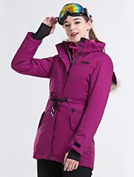 cheap -LanLaKa Women's Ski Jacket Skiing Snowboarding Winter Sports Thermal / Warm Waterproof Windproof POLY Winter Jacket Ski Wear