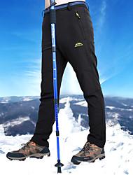 cheap -Men's Hiking Pants Softshell Pants Winter Outdoor Waterproof Windproof Fleece Lining Rain Waterproof Fleece Velvet Softshell Pants / Trousers Skiing Ski / Snowboard Hiking Black Dark Grey Army Green
