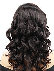 cheap -Remy Human Hair Full Lace Lace Front Wig Asymmetrical style Brazilian Hair Wavy Body Wave Natural Black Wig 130% 150% 180% Density with Baby Hair Soft Adjustable Women Easy dressing Women's Long