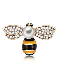 cheap -Women's Freshwater Pearl Brooches Cross Body Bee Ladies Cartoon Romantic Sweet Brooch Jewelry Assorted Color For Work Club