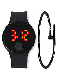 cheap -Men's Digital Watch Digital Silicone Black / White / Blue 30 m Water Resistant / Waterproof LCD Digital Casual Fashion - Yellow Red Blue
