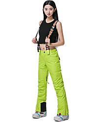 cheap -Women's Ski / Snow Pants Skiing Camping / Hiking Snowboarding Thermal / Warm Waterproof Windproof 100% Polyester Spinning Cotton Bib Pants Ski Wear / Winter