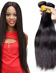 cheap -4 Bundles Brazilian Hair Straight Human Hair Extension Bundle Hair One Pack Solution 8-28 inch Natural Natural Color Human Hair Weaves Silky Smooth Best Quality Human Hair Extensions / Silk Base Hair