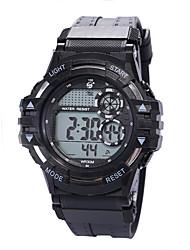 Недорогие -Муж. электронные часы Цифровой силиконовый Черный 30 m Защита от влаги ЖК экран Фосфоресцирующий Цифровой Винтаж Мода - Зеленый Синий Розовое золото