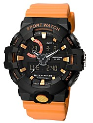 cheap -Couple's Sport Watch Digital Silicone Black / White / Red Calendar / date / day Dual Time Zones Noctilucent Analog - Digital Casual - Black / Blue White / Gold Black / Rose Gold