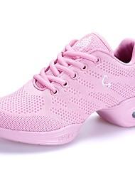 cheap -Women's Dance Shoes Mesh Dance Sneakers Sneaker Flat Heel Customizable Pink / Performance / Practice