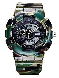 Недорогие -Муж. Спортивные часы электронные часы Японский Цифровой Стеганная ПУ кожа Черный / Белый / Синий 30 m Защита от влаги Календарь Секундомер Аналого-цифровые Блестящие Кольцеобразный -  / Два года