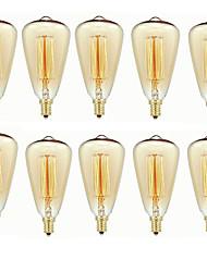 cheap -10pcs 40 W E14 ST48 Warm White 2200-2700 k Retro / Dimmable / Decorative Incandescent Vintage Edison Light Bulb 220-240 V