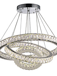 cheap -80 cm Crystal / LED Chandelier Metal Circle Electroplated Modern Contemporary 110-120V / 220-240V