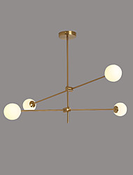 cheap -4-Light 100 cm Creative Chandelier Metal Glass Sputnik Gold / Painted Finishes Contemporary / Artistic 110-120V / 220-240V