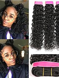 Недорогие -6 Связок Волнистые Натуральные волосы Необработанные натуральные волосы Головные уборы Человека ткет Волосы Уход за волосами 8-28 дюймовый Естественный цвет Ткет человеческих волос