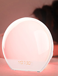 cheap -BRELONG Multi-Function Electronic Alarm Clock LED Colorful Wake-Up Night Light European Regulations 1 pc