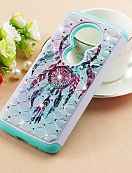 cheap -Case For Motorola Moto Z3 Play / MOTO G6 / Moto G6 Play Rhinestone / Pattern Back Cover Dream Catcher Hard PU Leather