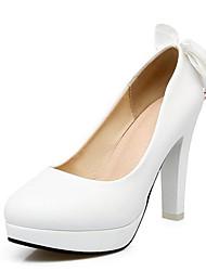 cheap -Women's Heels Stiletto Heel PU Spring Black / White / Pink / Wedding / Daily