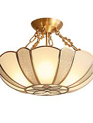 cheap -4-Light 45 cm Creative Chandelier Metal Glass Novelty Brass LED / Country 110-120V / 220-240V