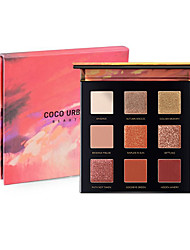 cheap -9 Colors 12 Colors Eyeshadow Eyeshadow Palette Matte Shimmer EyeShadow Matte Shimmer Cruelty Free Formaldehyde Free Glitter Shine Pro lasting smoky Shimmer glitter gloss Coverage Long Lasting Daily