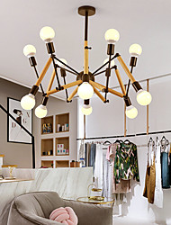 cheap -12 Bulbs 105 cm Mini Style Chandelier Metal Mini Painted Finishes / Wood Artistic / Traditional / Classic 110-120V / 220-240V