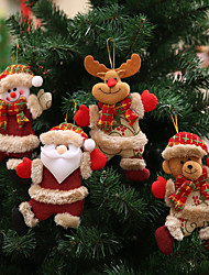 cheap -Happy New Year Christmas Ornaments DIY Xmas Gift Santa Claus Snowman Tree Pendant Doll Hang Decorations for Home Noel Natal
