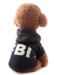 cheap -Dog Cat Sweater Sweatshirt T-shirts Solid Colored Simple Style Casual / Sporty Outdoor Dog Clothes Black Red Costume Fabric S M L XL