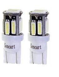 cheap -SENCART 2pcs T10 / BA9S Motorcycle / Car Light Bulbs 3 W SMD 7020 160 lm 10 LED Turn Signal Light / Motorcycle Lighting / Interior Lights For