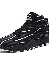 cheap -Men's Trainers Athletic Shoes Outdoor Basketball Shoes Mesh Non-slipping Black and White Black / Red Fall Spring