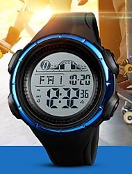 Недорогие -SKMEI Муж. Для пары электронные часы Цифровой Стеганная ПУ кожа Черный / Синий / Цвет клевера 50 m Защита от влаги Календарь Хронометр Цифровой На каждый день Мода - Черный Зеленый Синий