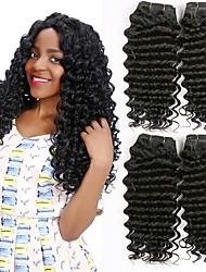 cheap -4 Bundles Vietnamese Hair Deep Wave Human Hair Natural Color Hair Weaves / Hair Bulk Extension Bundle Hair 8-28 inch Natural Color Human Hair Weaves Women Extention Best Quality Human Hair Extensions