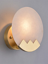 cheap -Northern Europe Modern Electroplated Metal Wall Sconce Marble Mini Wall Lamp Living Room Dining Room Cafe E12/E14 Bulb Base