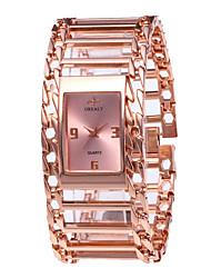 cheap -Women's Luxury Watches Wrist Watch Gold Watch Quartz Stainless Steel Silver / Gold / Rose Gold 30 m New Design Casual Watch Analog Ladies Vintage Fashion - Silver Rose Gold Black / Rose Gold